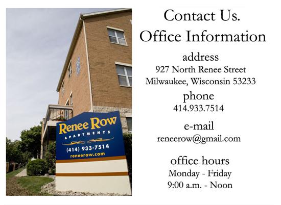 Renee Row Apartments - Contact Us
